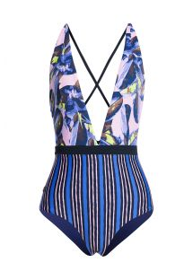 BBS X MAAJI - printed swimsuit with plunging neckline - SPIRIT JUNGLE