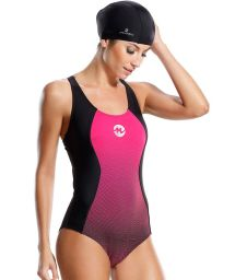 Pink and black sports swimsuit - MAIO CARIBE
