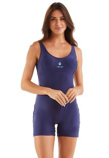 Navy romper style one-piece swimsuit - SPORTY MARINHO LISO