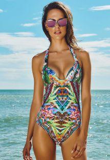 Multicolour Print 1-Piece Swimsuit - ARARUAMA