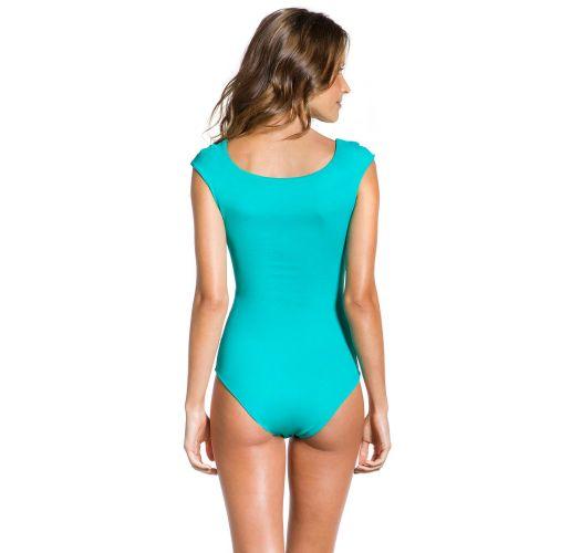 Rosa/blauer Badeanzug mit Grafikmuster - BODY RIO COLORIDO