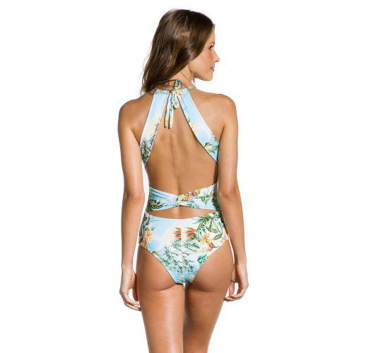 Geblümter Badeanzug, originelle Rückenpartie - MAIO MANHÃ
