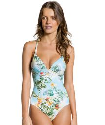 Floral original one-piece swimsuit - MAIO MANHÃ