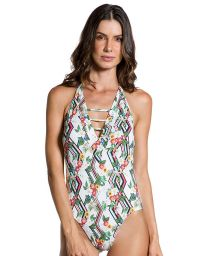 One-piece swimsuit in floral graphic print - PRAIA DO SUL