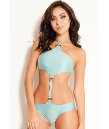 Light blue monokini with accessorized top - MAIO FOX