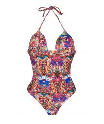 Trikini with cups, multi-coloured with varied motifs - ARAGUIRA