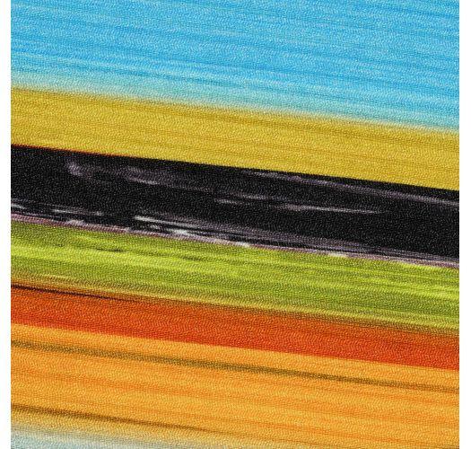 Brazilian scrunch monokini with colorful stripes - ARTSY TRIKINI