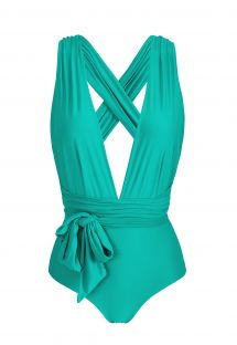 Multi-position green one-piece swimsuit - BODY BAHAMAS MARINA