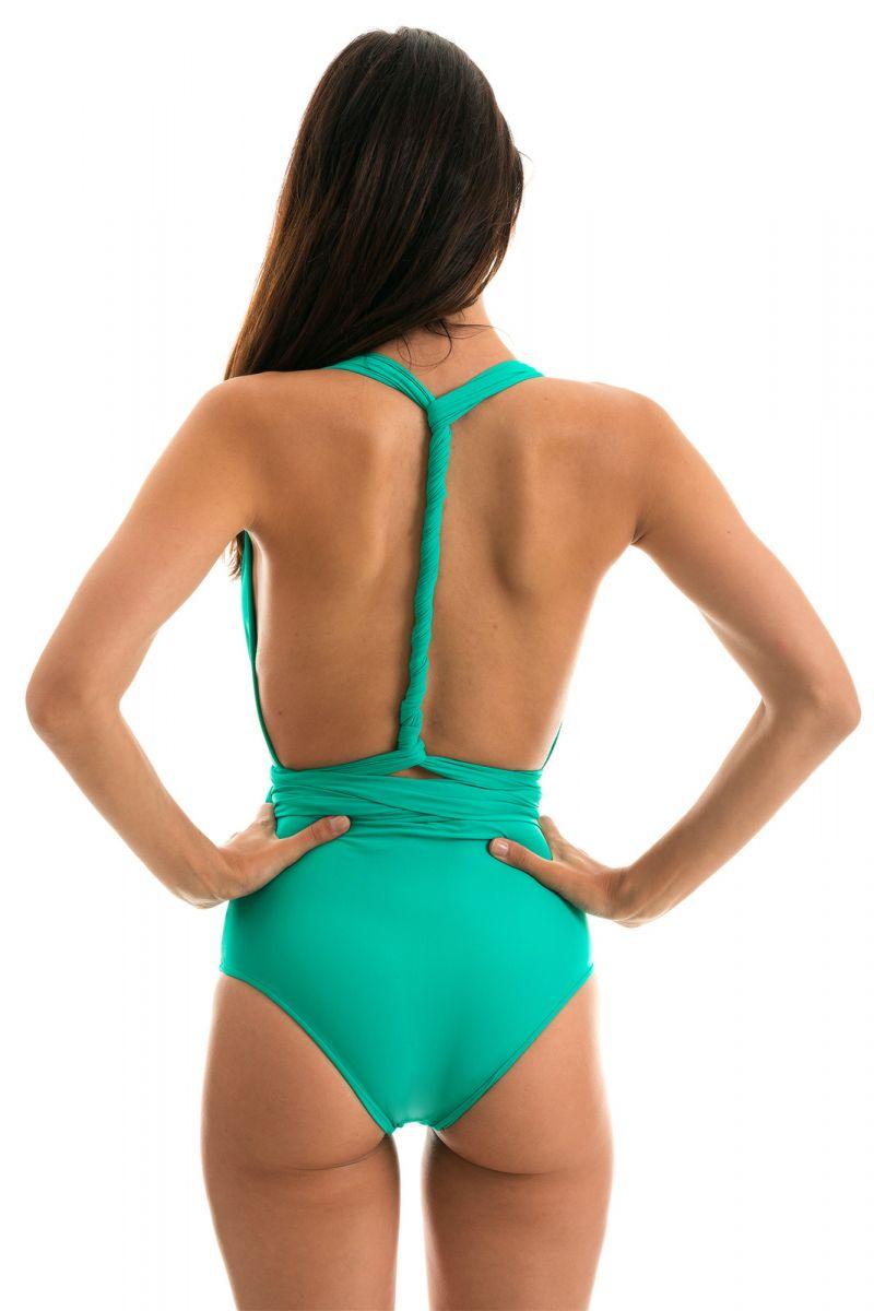 Multi-position green one-piece swimsuit - BODY BAHAMAS MARINA