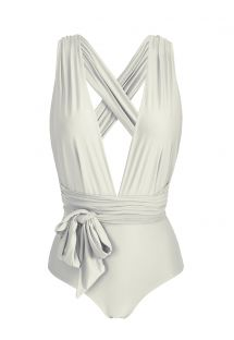 Multi-position broken white one-piece swimsuit - BODY PEROLA MARINA