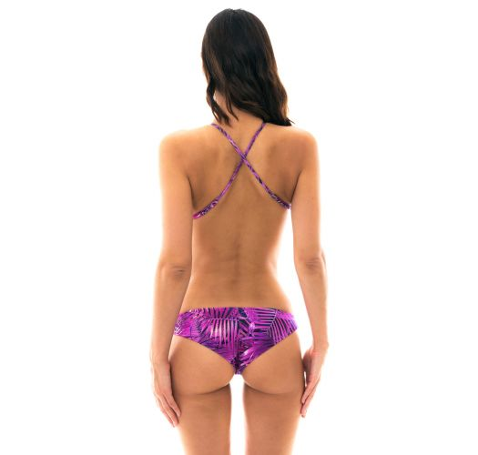 Purple high-neck monokini - BODY RECORTE ULTRA VIOLET