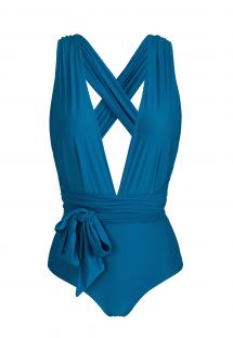 Multi-position blue one-piece swimsuit - BODY TURQUIA MARINA