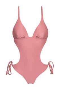 光沢のあるピンクのブラジリアンスクランチモノキニ - CALLAS TRIKINI
