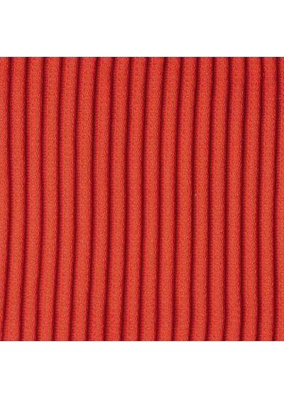 Maillot 1 pièce rouge côtelé très échancré dos croisé - COTELE-TOMATE OLIVIA