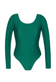 Green textured bathing body glove with long sleeves - DUNA GREEN BODY