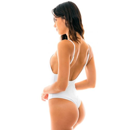 White textured one-piece swimsuit - DUNA WHITE HYPE