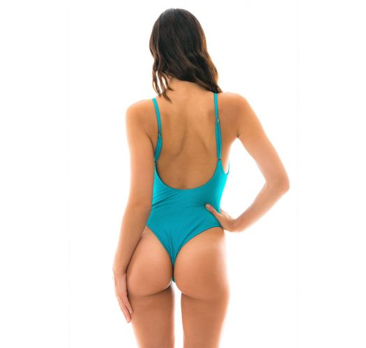 Blue textured one-piece swimsuit - FIORDE HYPE