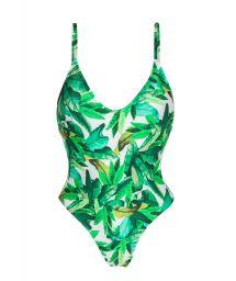 Слитный купальник с принтом листьев - FOLHAGEM HYPE