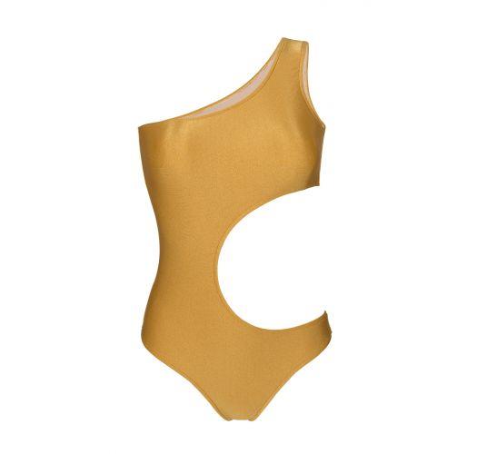 Hel gullfarget, asymmetrisk enkel skulder - GOLD ASSIMETRICO