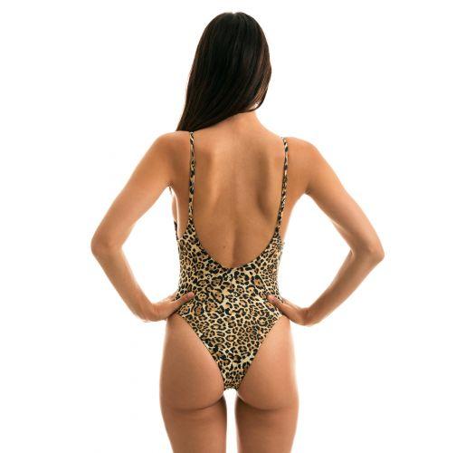Leopard print high-leg swimsuit - LEOPARDO HYPE