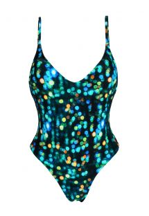 One-piece swimsuit with a print - LUCE HYPE