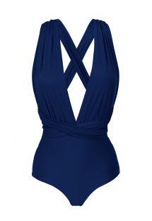 Navy blue multi-way one-piece swimsuit - MARINHO MARINA