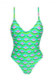 Graphic print one-piece swimsuit - MERMAID HYPE