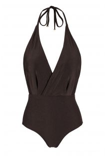 One-piece iridescent brown swimsuit - METEORITE TRANSPASSADO