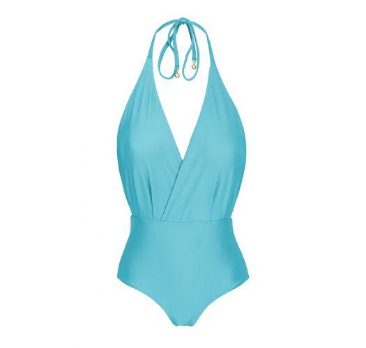 Sky blue one-piece swimsuit - ORVALHO TRANSPASSADO