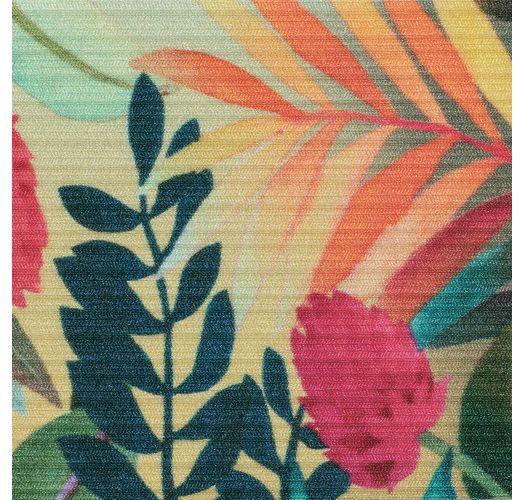 Tropical floral Brazilian scrunch monokini - PARADISE TRIKINI