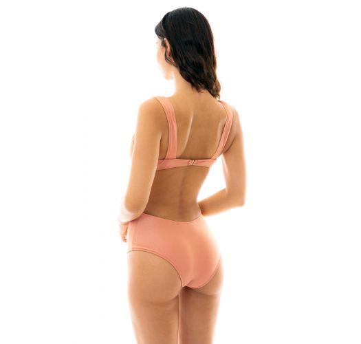Brasiliansk høy trikini ferskenrosa - TRIKINI OURO ROSA