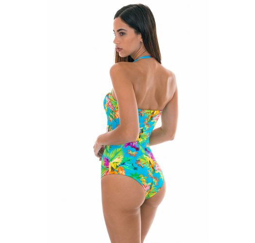 TROPICAL BLUE ONE PIECE