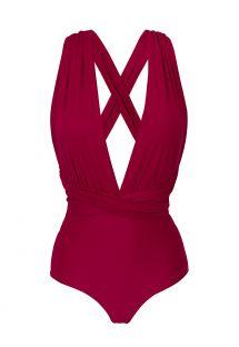 Garnet red multi-way one-piece swimsuit - UV-DESEJO MARINA