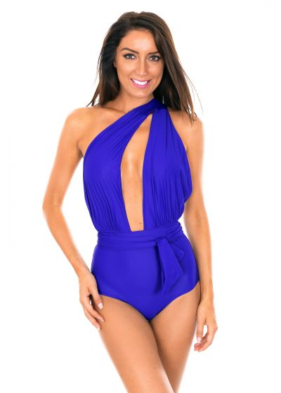 Deep blue swimsuit with multi-position straps - VEGAS PLANETARIO
