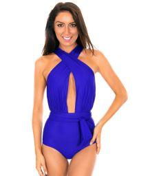 Deep blue swimsuit with multi-position straps - VEGAS PLANETARIO