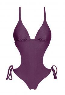 Iridescent purple Brazilian scrunch monokini - VIENA TRIKINI