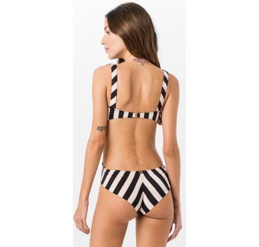 Black and white stripes one-piece swimsuit - ENGANA MAMAE FLAG