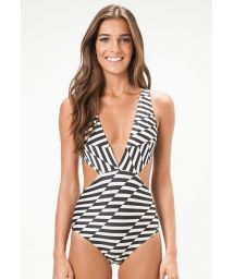 Geometric trikini with plunging neckline - VERMONT