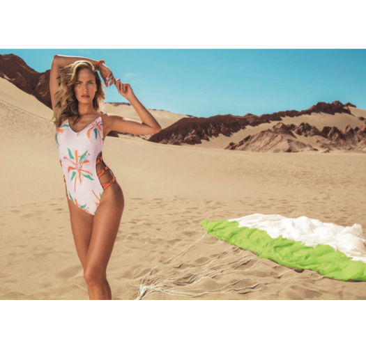 1 piece swimsuit with rope and rings details - MAIÔ QUITOR