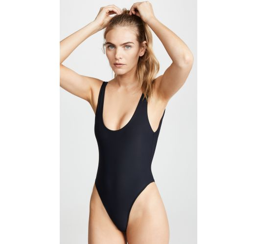 Black swimsuit with rainbow on the back - CARAIVA RAINBOW BLACK