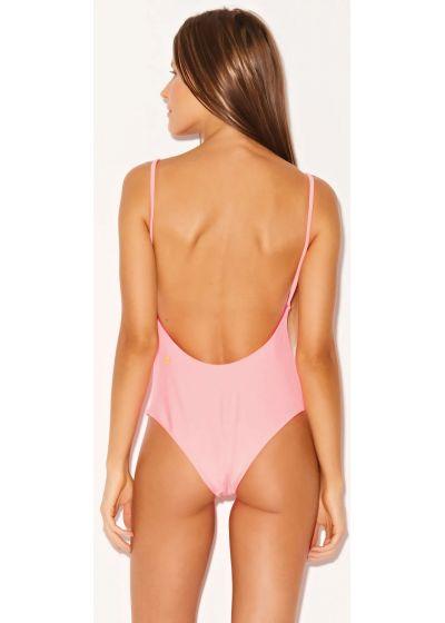 Neon pink reversible one-piece swimsuit - ARIEL NEON