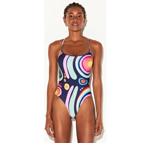 Multicolor printed thong swimsuit - MAIO MORAY