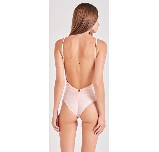 Nude spotted one-piece swimsuit - SIMPLICIDADE ROSE