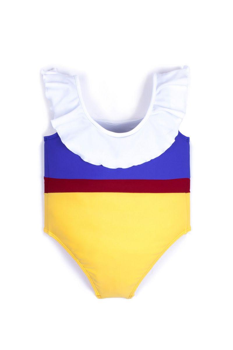 Blå, röd och gul baddräkt - MAIO ISABELLE