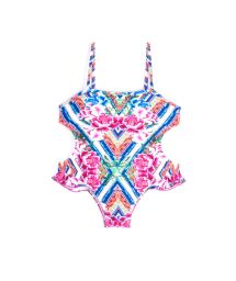 Colorful monokini with floral print - MAIO SOPHIA BELA