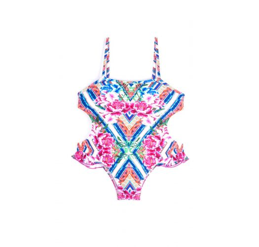 Colorful monokini with floral print - MAIO SOPHIA BELA