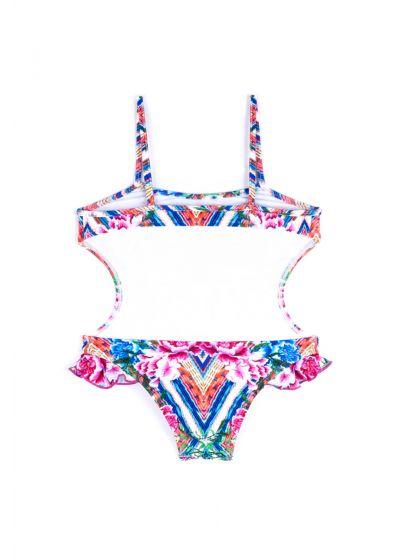 Trikini pour fille à volants imprimé floral - MAIO SOPHIA BELA