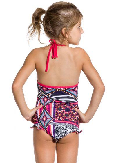 Hel baddräkt för flickor med volang-detaljer - MAIO DOCINHO