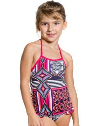 Girl one-piece swimsuit with ruffle details - MAIO DOCINHO