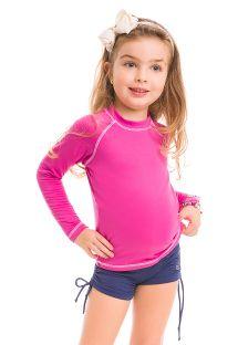Różowa dziecięca koszulka z długim rękawem SPF50 - CAMISETA ROSA - SOLAR PROTECTION UV.LINE